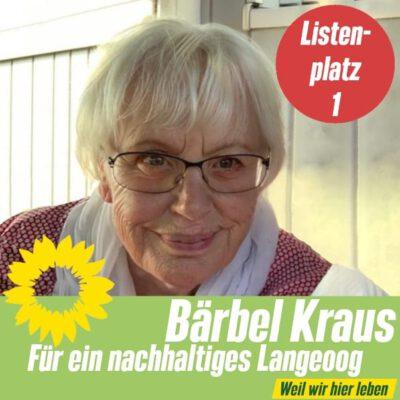 Listenplatz 1 OV Langeoog: Bärbel Kraus