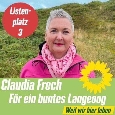 Listenplatz 3 OV Langeoog: Claudia Frech