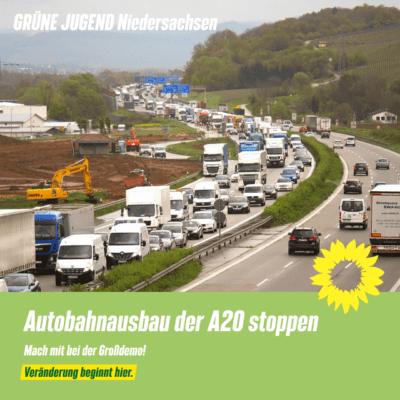 Großdemo gegen Autobahnausbau A20