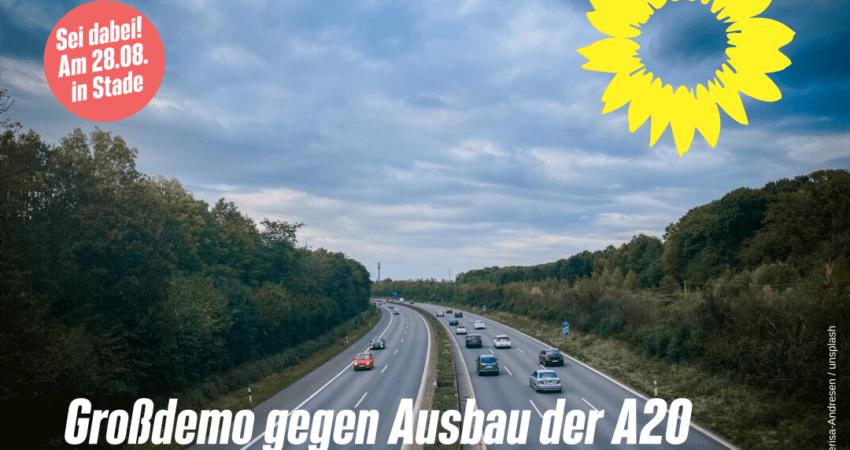 Großdemo in Stade gegen Ausbau der A20/A26