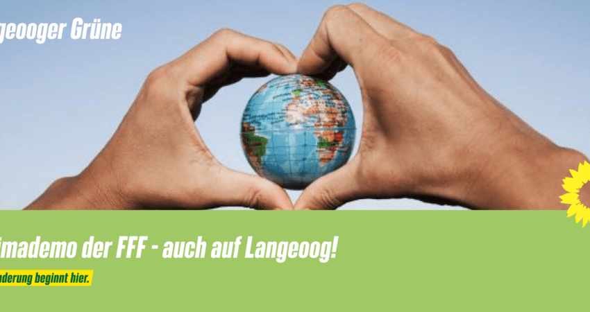 Klimademo der FFF auch auf Langeoog